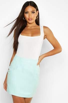 boohoo Woven Soft Suedette A Line Mini Skirt