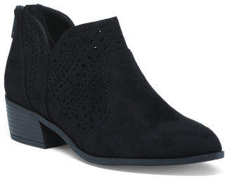 Side Slit Ankle Booties