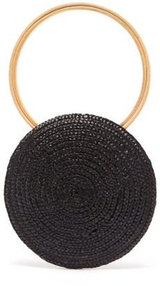 Eliurpi - Circle Mini Woven Straw Bag - Womens - Black