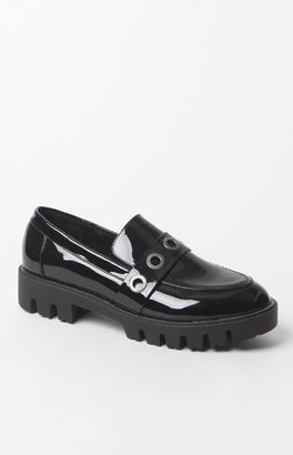 Sixty Seven Grommet Patent Leather Loafers $90 thestylecure.com