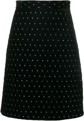 Gucci diamond quilted skirt