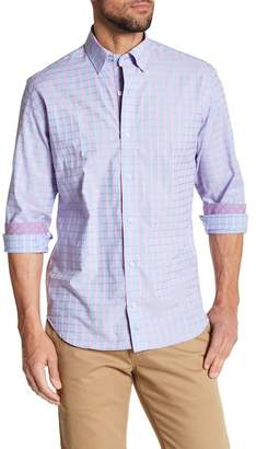 Tailorbyrd Long Sleeve Check Woven Button Shirt