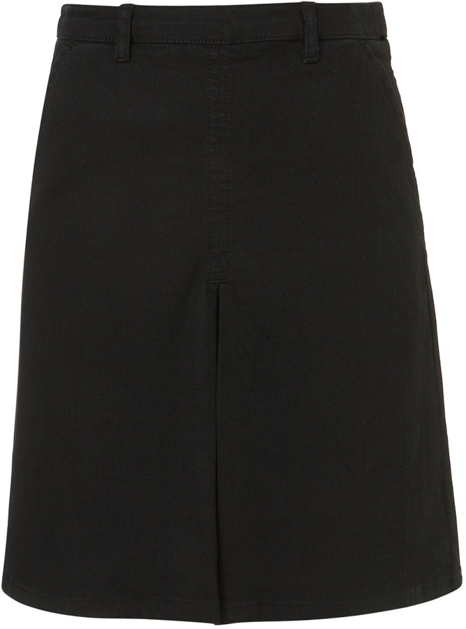 J.W.Anderson **Box Pleat Denim Skirt By for Topshop