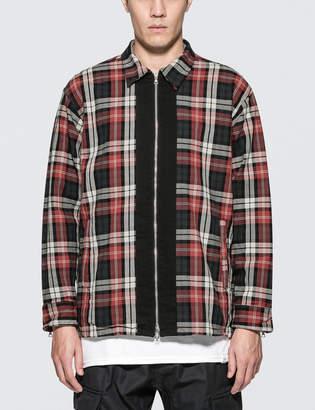 Magic Stick Plaid Zip Shirt Jacket
