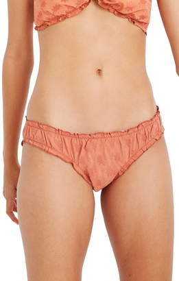 Madewell Second Wave Ruffled Eyelet Bikini Bottoms