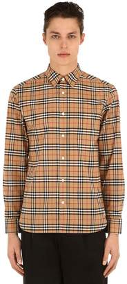Burberry George Checked Cotton Poplin Shirt