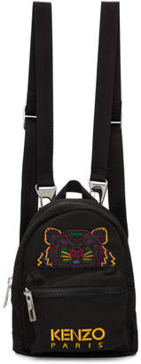 Kenzo Black Mini Canvas Backpack