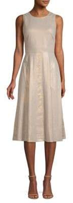 Donna Karan Sleeveless Buttoned Midi Dress