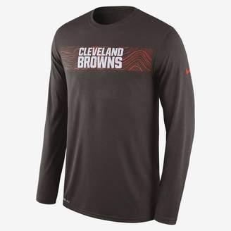 Nike Dri-FIT Legend Seismic (NFL Browns) Men's Long Sleeve T-Shirt