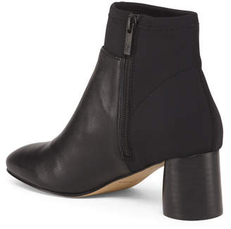 Donald J Pliner Leather Stretch Booties
