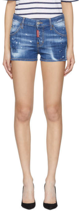 Blue Cool Girl Shorts