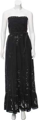 Valentino Belted Guipure Lace Dress