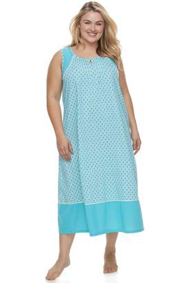 Croft & Barrow Plus Size Colorblock Printed Nightgown
