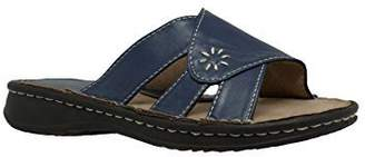 AdTec Shaboom Women's Band Slide Sandals Open Toe Flat Heel, . 8560-NV ( D)
