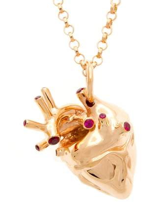 Rubie's Costume Co Strange Fruit - Heart Pendant Rose Gold With