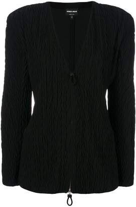 Giorgio Armani padded shoulder jacket