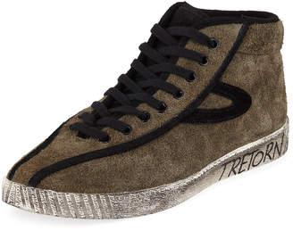 Tretorn Men's Nylite Suede High-Top Sneakers
