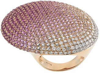 Gavello 18kt rose gold, sapphire and diamond cocktail ring