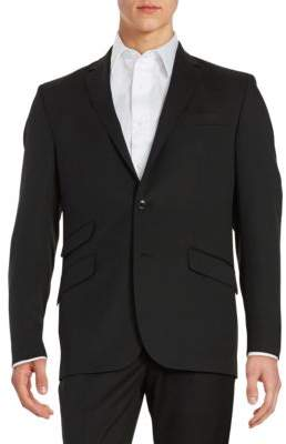 Kenneth Cole New York Wool-Blend Two-Button Jacket