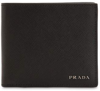 Prada Two Tone Saffiano Leather Classic Wallet