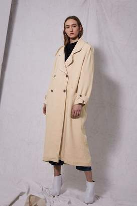 Boutique **linen trench coat