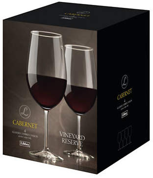 Libbey Vineyard Reserve Set of Four Cabernet Sauvignon Wine Glasses