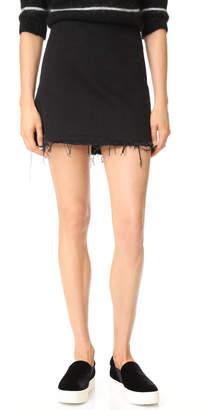 Alexander Wang Denim x Zip Miniskirt