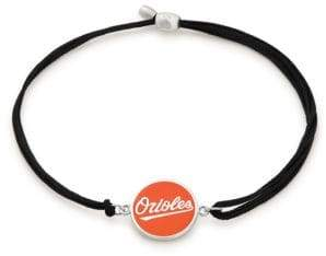 Alex and Ani Baltimore Orioles Sterling Silver Kindred Cord Charm Bracelet