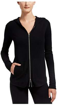 ATM Anthony Thomas Melillo Cashmere Blend Double Zip-Up Hoodie