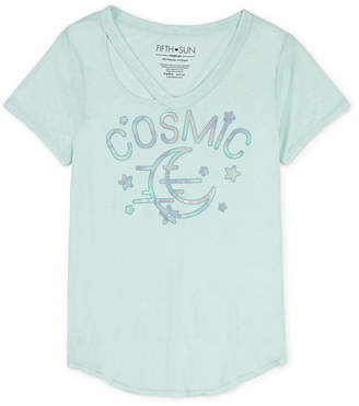 Fifth Sun Cosmic Tie Front Tee - Juniors Plus