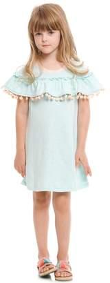 Truly Me Ruffle Pompom Dress