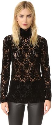 DKNY Velvet Lace Turtleneck $498 thestylecure.com