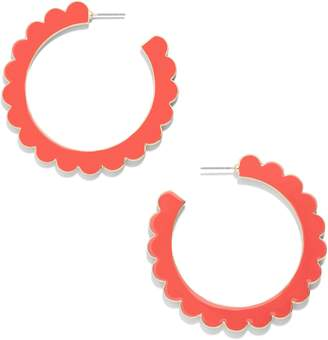 BaubleBar Scallop Hoop Earrings