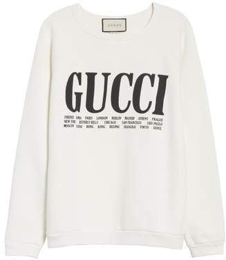 Gucci Felted Cotton Jersey Sweatshirt