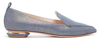Nicholas Kirkwood Beya Denim Loafers - Womens - Blue Multi