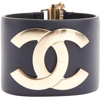 Chanel Navy Leather Bracelets