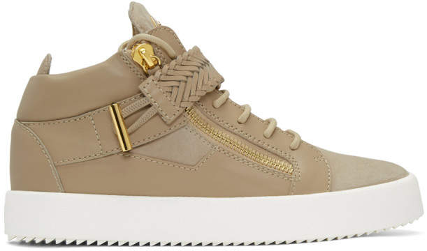 giuseppe zanotti beige may london high top sneakers herren. Black Bedroom Furniture Sets. Home Design Ideas