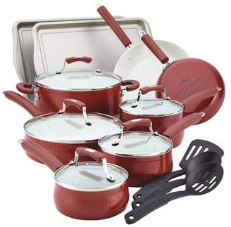 Paula Deen Savannah Collection Aluminum 17-Piece Cookware Set With Bakeware