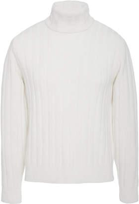 Ami Ribbed Turtleneck Sweater