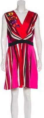 Alberta Ferretti Printed Sleeveless Mini Dress