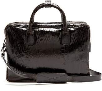Marc Marmel Benny mini cracked-leather briefcase