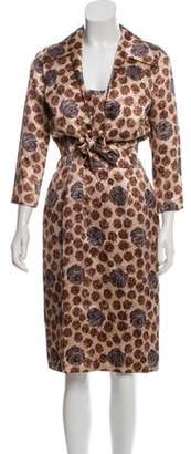 Dolce & Gabbana Rose Printed Dress Set brown Rose Printed Dress Set