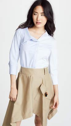 Monse Split Stripe Cotton Shirt