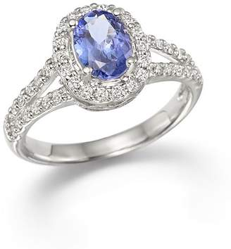 Bloomingdale's Tanzanite and Diamond Ring in 14K White Gold - 100% Exclusive