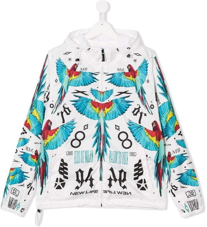 Marcelo Burlon County Of Milan Kids wings print windbreaker jacket
