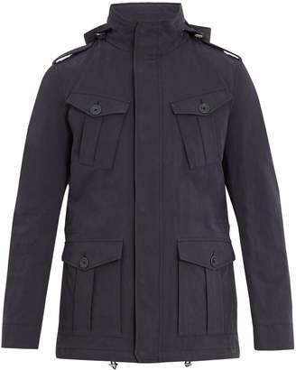 Herno Pocket-detail cotton-blend field jacket