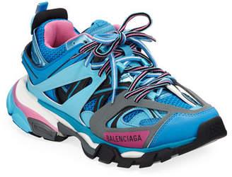 Balenciaga Track Colorblock Mixed Sneakers, Bleu Roi
