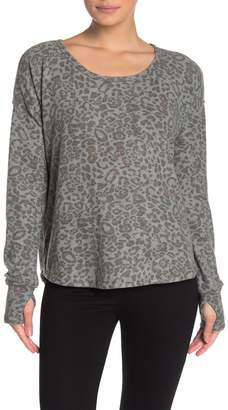Cable & Gauge CG Cozy Animal Print Pullover Sweater