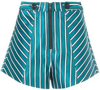 Self-Portrait striped shorts