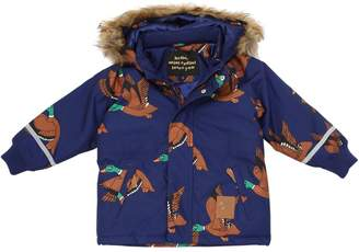 Mini Rodini Duck Printed Nylon Ski Jacket